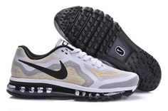 Nike Air Max 2014 Mens White Black Metallic Silver For Sale
