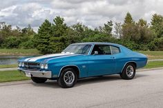 1970 Chevrolet Chevelle SS Lemans Blue : Muscle Cars For Sale : The Motor Masters – Classic Cars Chevy Chevelle Ss, Chevelle Ss For Sale, Chevrolet Impala, Chevy Pickups, 1957 Chevrolet, Classic Chevrolet, Muscle Cars For Sale, Chevy Muscle Cars, Le Mans