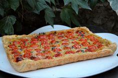 Tarte aux pois chiches et tomates