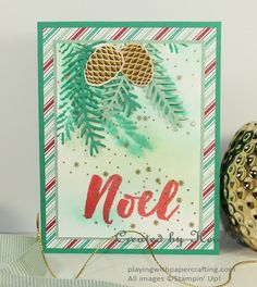Playing with Papercrafting: Watercolour Ways with Christmas Pines