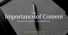 The Importance of #Content in #SocialMedia #Marketing https://blog.thesocialms.com/the-importance-of-content-in-social-media-marketing/?utm_campaign=crowdfire&utm_content=crowdfire&utm_medium=social&utm_source=pinterest