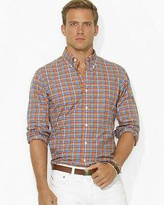 Polo Ralph Lauren Plaid Poplin 1-Pocket Sport Shirt | Bloomingdale's