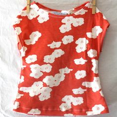 Coral Poppies Organic Tumble Tee.  6m - 6 years.  By Fun Little Things