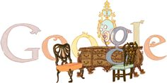 Thomas Chippendale's Birthday лет со дня рождения Томаса Чиппендейла] /This doodle was shown: /Countries, in which doodle was shown: United Kingdom Google Doodles, Doodle 4 Google, Logo Google, Art Google, Google Link, Typography Logo, Logos, Famous Artists, Doodle Art