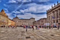 View onto the Royal Palace in Turin