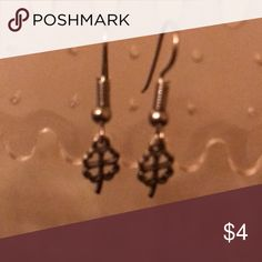 Silver tone shamrock earrings Silver tone earrings with shamrocks Jewelry Earrings