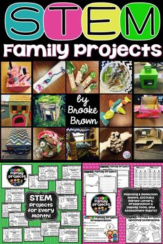 STEM and STEAM Challenge Family Projects in English and Spanish for Kindergarten, First Grade, Second Grade, Third Grade, Fourth Grade, and Fifth Grade! Simple, open-ended project ideas with planning sheets, grading rubrics, and presentation options | Elementary STEM
