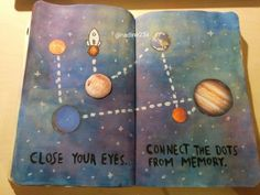 Wreck This Journal - close your eyes, connect the dots from memory
