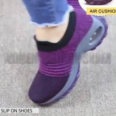 Features: Outsole Material: Rubber Closure Type: Slip-On Fit: Fits true to size, take your normal size Lining Material: Mesh Insole Material: PU Toe Shape: Round Toe Women's Slip On Shoes, Sock Shoes, New Shoes, Platform High Heels, Mode Outfits, Female Outfits, Ladies Slips, Toe Shape, Casual Sneakers