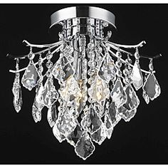 @Overstock - Illuminate your home or office with this unique chandelier. This lighting fixture features a chrome finish and crystal construction in an eye-catching arrangement.   http://www.overstock.com/Home-Garden/Crystal-Chrome-3-light-64979-Collection-Chandelier/6082625/product.html?CID=214117 $119.19