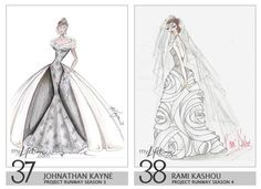 Royalty Wedding Dress Design Sketches   Johnathan Kayne U0026 Rami Kashou