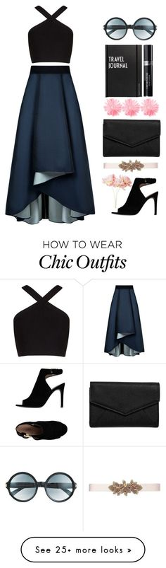 """Never bored with black"" by demetriab on Polyvore featuring Sachin + Babi, BCBGMAXAZRIA, Tory Burch, LULUS, Pier 1 Imports, Tom Ford, Design Letters, Christian Dior and Oscar de la Renta"