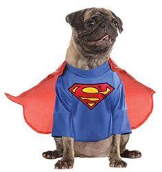 DC Comics Pet Costume, Medium, Superman : Pug Costume