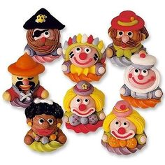 3d edible #sugar circus character cupcake #toppers cake #decorations clown ,  View more on the LINK: http://www.zeppy.io/product/gb/2/131150924713/