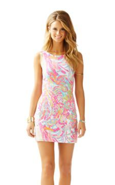 Whiting Cut-Out Shift Dress - Lilly Pulitzer Resort White Scuba To Cuba White Preppy Girl, Preppy Style, Dressy Attire, Resort Dresses, Preppy Outfits, Preppy Clothes, Kids Outfits, Summer Clothes, Lilly Pulitzer