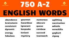 Everyday English Words List from A-Z. Learn English words with examples. English vocabulary words for beginners and English language learners of all ages. Common English words and English sentences used in everyday life. Learn English words with this comprehensive A to Z list of English words and English vocabulary to learn English and to help speak English. English Sentences, English Vocabulary Words, Learn English Words, English Grammar, English Tips, English Study, English Lessons, Everyday English, Learning English Online