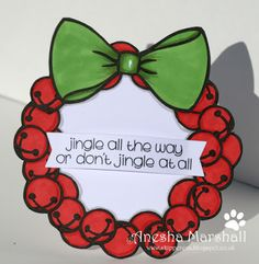 Finn is one of those people (or should I say penguins) who doesn't quite catch the spirit of Christmas. Fabric Crafts, Paper Crafts, Jingle All The Way, Digital Stamps, Cardmaking, Christmas Cards, Colouring, Frame, Card Ideas