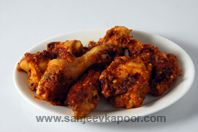 Chettinaad Fried Chicken: Chicken marinated in spicy masala and fried till crisp.