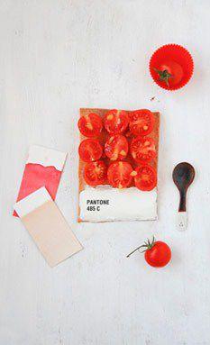 Pantone tarts by Émilie de Griotte