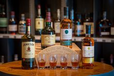 """This month, as we prepare for St. Patrick's Day celebrations, Michael's new Taste of Ireland Irish Whiskey Flight debuts! Taste of Ireland Irish Whiskey Flight includes: Jameson Redbreast, 12 Yr """"Single Pot Still"""", Green Spot Yellow Spot, 12 Yr Price: $18. The flight consists of four ½-ounce samplings of featured whiskey. No substitutions, please. Stop in the Restaurant soon to try the new Taste of Ireland Irish Whiskey Flight!"""