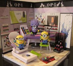 Too cute! but Im not sure how a mani/pedi done by a minion would turn out!