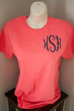 Monogrammed Tshirt by ElleQDesigns on Etsy