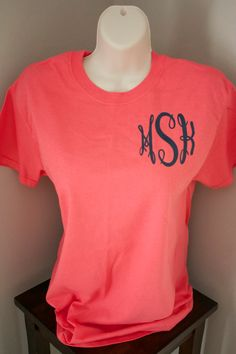 Monogrammed Tshirt by ElleQDesigns on Etsy