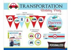 cars and trucks party free printables - Yahoo Image Search Results
