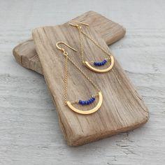 10236 - Boucles d'oreilles Iris (Lapis-lazuli)