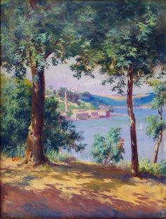 H.Ali Rıza-039 Oil Painting Pictures, Pictures To Paint, Turkish Art, Art Studies, Monet, Painting & Drawing, Istanbul, Scenery, Art Gallery