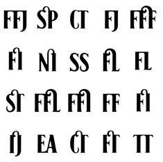 Ligatures - lot of ligatures!!!
