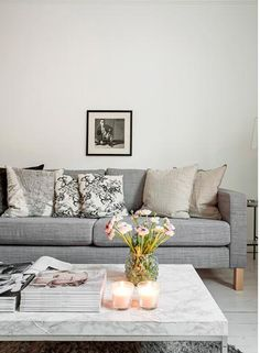 grey and white livingroom | from http://www.erikolsson.se/ | via planete deco