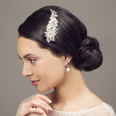clip ons for karen Elegant Pearl Drop II Clip On Wedding Earrings