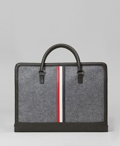 Felt and leather computer bag from Brooks Brothers and Thom Browne. $495.