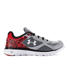 899a1262f9cc Under Armour Boys  Grade School UA Micro G Velocity Running Shoes 7 Steel      See this great product.