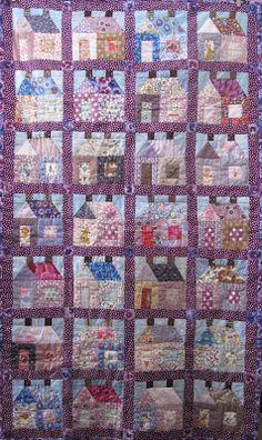 Purple farmhouse quilt.