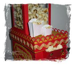 Popcorn machine ~ popcorn machine vanaf de andere kant, moeilijk om te maken.