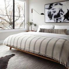 Decoration Inspiration, Interior Inspiration, Bedding Inspiration, Home Decor Bedroom, Modern Bedroom, Contemporary Bedroom, Art For Bedroom, Adult Bedroom Ideas, Neutral Bedroom Decor