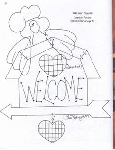 Embroidery Patterns, Quilt Patterns, Sewing Patterns, Painting Patterns, Fabric Painting, Country Primitive, Chicken Pattern, Chicken Crafts, Bird Quilt