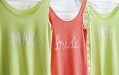 Bleach Bride Tee Shirts #DIYSomethingTurquoise