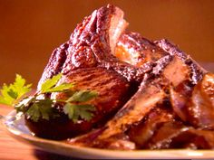 Thick Cut Mustard Marinated Pork Chops with Caramelized Red Onions