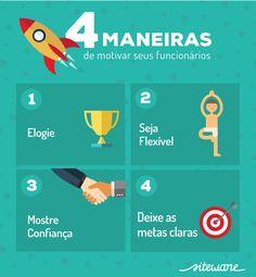 4 maneiras de motivar seus funcionários e aumentar a produtividade