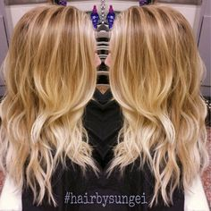 lighter blonde ombre for spring @kalyn olson olson olson olson Brinkerhoff could i do this?