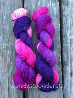 Hand Dyed Yarn Hand Dyed Yarn Fingering Weight by WendysWonders127