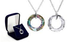 Collar de plata esterlina con Swarovski Elements por 14,99 €