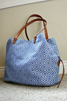 I would like to have this exact tote bag! Street Level Anchorage Diamond Printed Tote ($68)
