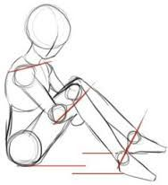 drawing guide sitting