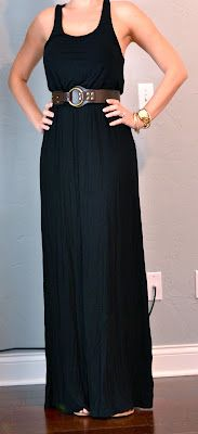 Outfit Posts: outfit post: black maxi dress