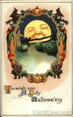 vintage halloween postcards - Google Search