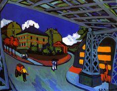 Railway Underpass in Dresden) Ernst Ludwig Kirchner - 1910-1926